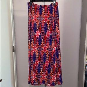 Susan Graver Liquid Knit Maxi Skirt  EUC 2X
